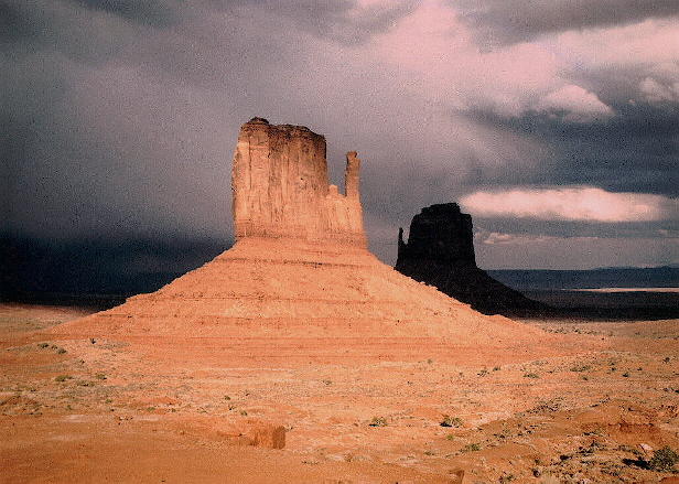 Dramatic weather in Monument Valley, Arizona.