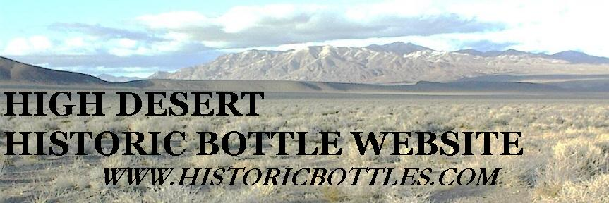 High Desert Historic Bottle Website homepage banner