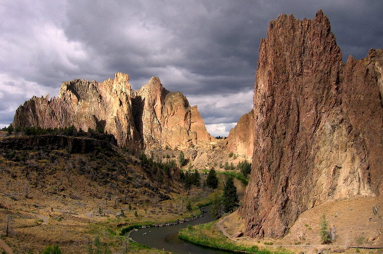 Just before a storm at Smith Rocks in central Oregon's high desert.